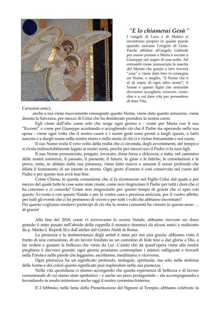 s. Natale 2019 - Monastero Cademario-1