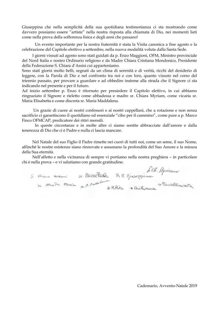 s. Natale 2019 - Monastero Cademario-3