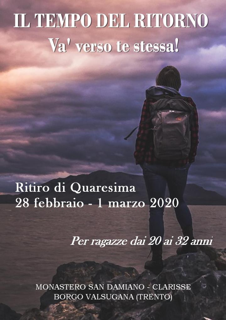 Il tempo del ritorno – Ritiro di Quaresima, venerdì 28 febbraio – domenica 1 marzo2020