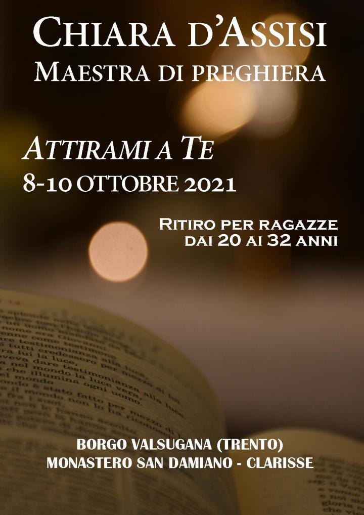 Chiara d'Assisi, maestra di preghiera, 8-10 ottobre2021